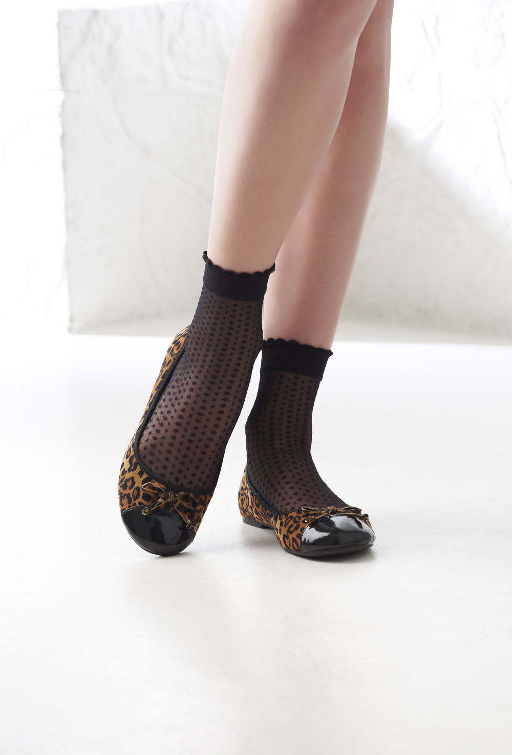 3pp Sheer Patterned Ankle Highs
