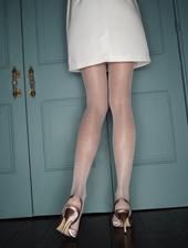 Bridal Pearl Backseam Tights